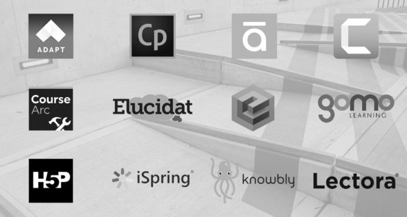 Logos of 12 authoring tool providers